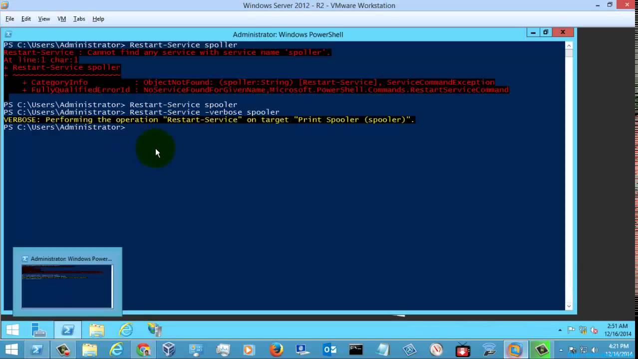 Windows Powershell Tutorial - Restart-Service