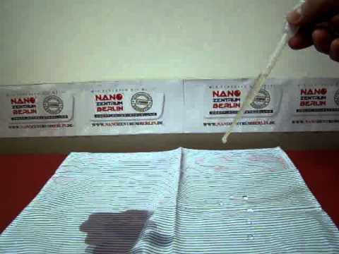 Nano Zentrum Berlin - Nanoversiegelung von Textilien