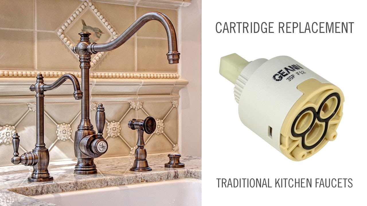 Cartridge Replacement On Traditional Waterstone Kitchen And Prep Faucets