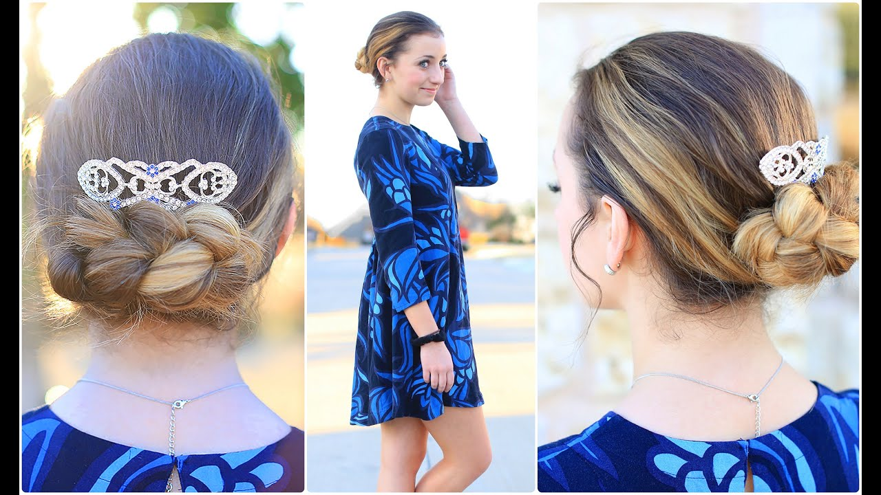 Easy Flipped Braid Updo