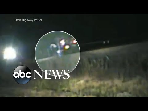 Utah trooper rescues man from train crash with seconds to spare l ABC News