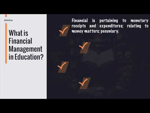 Fundamentals of Financial Management in Education