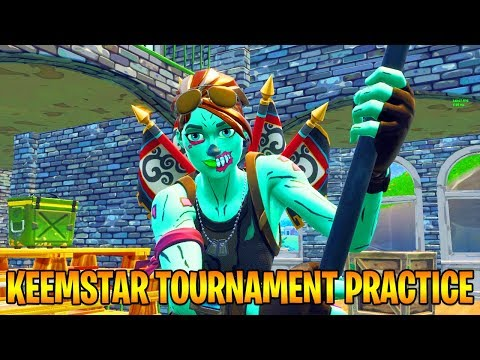 KEEMSTAR TOURNAMENT PRACTICE - BIGGEST YOUTUBER TOURNAMENT EVER! (Fortnite Battle Royale) thumbnail