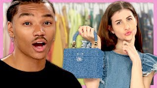 ALL DENIM Outfit Challenge | Wheel of Fashion w/ Meg DeAngelis & Josh Levi