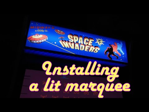 Arcade1up - installing a lit marquee from Etsy from Evil Genius Entertainment