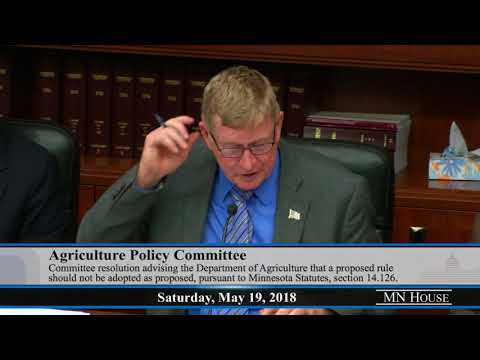 House Agriculture Policy Committee - part 1  5/19/18