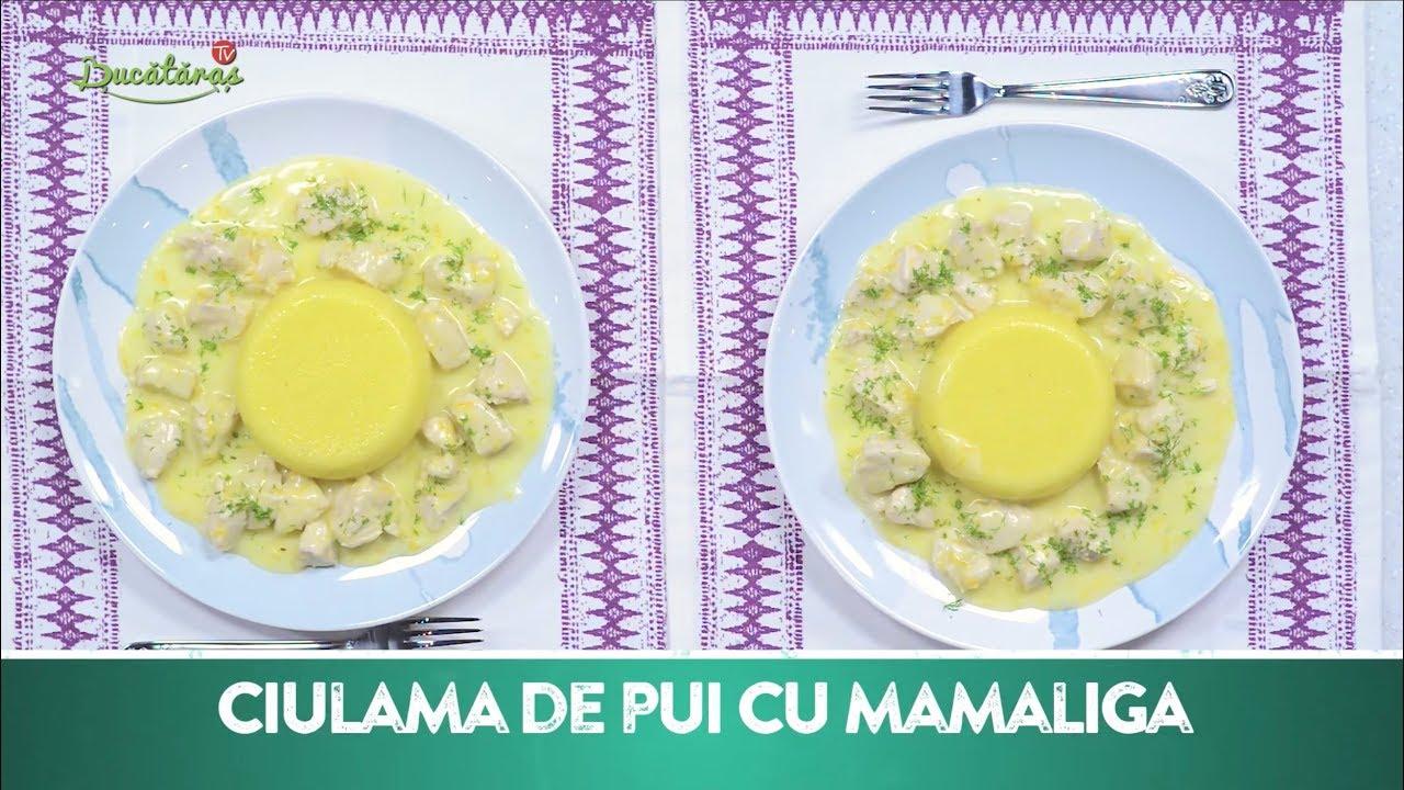 Reteta - Ciulama de pui cu mamaliga   Bucataras TV