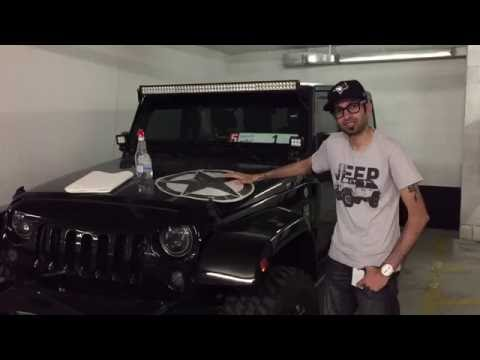 Wet Application On Jeep Wrangler For Army Star Decal