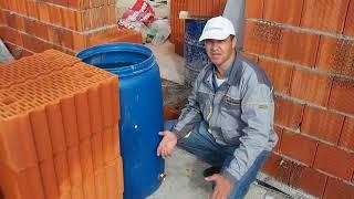 Какую использовать смесь для кладки керамических блоков, стен, строительство дома из porotherm