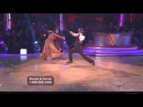 Nicole Scherzinger & Derek Hough  Dancing With The Stars  Fox trot Week 8