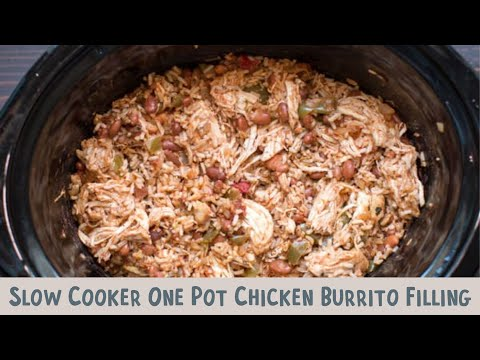 Slow Cooker One Pot Chicken Burrito Bowls