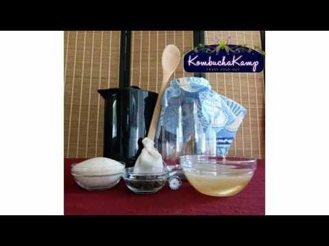 Kombucha Recipe - 5 Simple Steps... How To Make Kombucha Tea with Kombucha Kamp