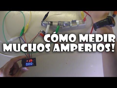 Cómo adaptar un shunt externo a voltamperímetro que mide solo 10A