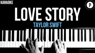 Taylor Swift - Love Story Karaoke SLOWER Acoustic Piano Instrumental Cover Lyrics