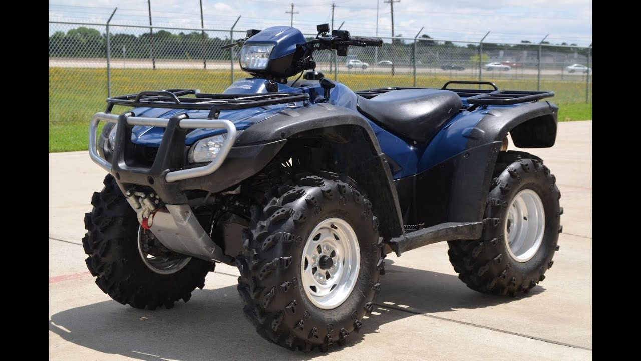2007 Honda Rubicon 500 4x4 In Blue Youtube