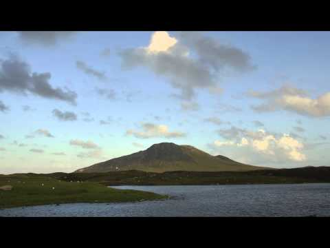 Evening falls over Eabhal, North Uist