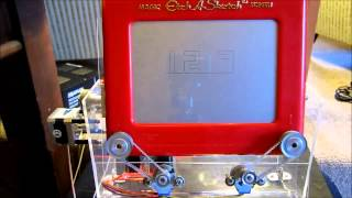 Repeat youtube video Etch a Sketch clock powered by Arduino