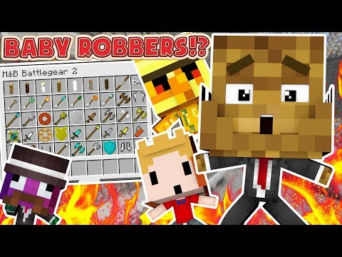 BABY MODDED COPS AND ROBBERS HIDE AND SEEK MOD - Minecraft Mod (FUNNY MOMENTS)