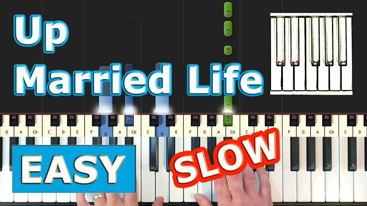 Married Life Piano Roblox Married Life Up Slow Easy Piano Tutorial Sheet Music Synthesia Pixar Youtube