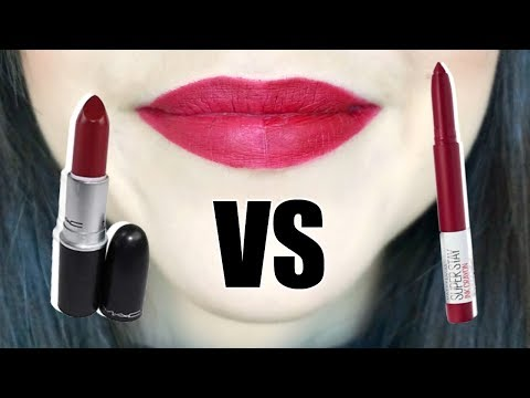 Fall Lipstick Dupes? || Mac Lipstick VS Maybelline SuperStay Ink Crayon thumbnail