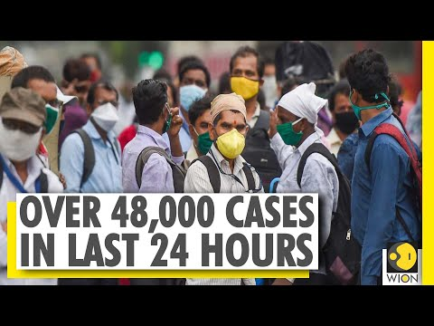 India Records Over 48,000 COVID-19 Cases In Last 24 Hours | Coronavirus Outbreak