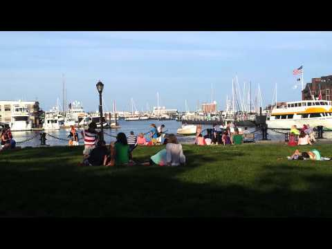 Strumming at Long Wharf, Boston.
