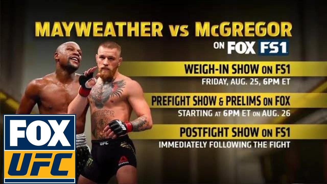 Floyd Mayweather Vs Conor Mcgregor Coverage On Fox Fs1 Ufc On Fox