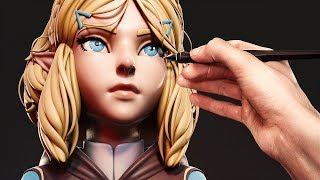 Sculpting Princess Zelda from Breath of the Wild 2