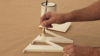 How to Paint Outdoor Wooden Letters with a Brush