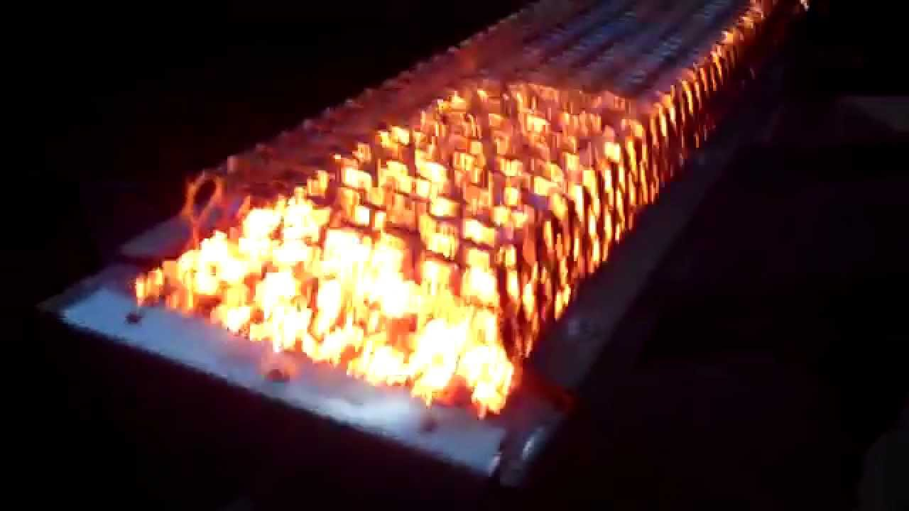 Gas Infrared Burner Demo - Grills, Heaters - YouTube