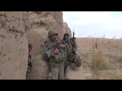 Afghanistan Army in the front line against terrorists taliban