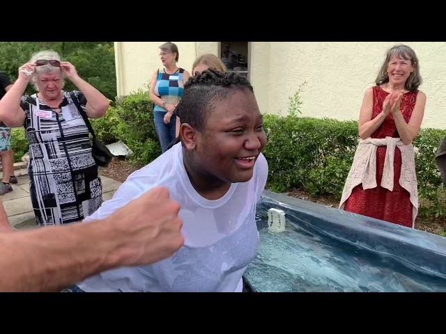 3 generations baptized the same day - this video will make you smile.