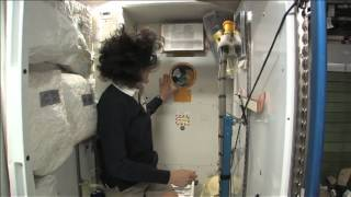 ISS Tour: Kitchen, Bedrooms & The Latrine | Video(Expedition 33 commander Suni Williams showcase the sleeping accomodations, how the bathroom is utilized, brushing teeth in microgravity and the common ..., 2012-11-21T19:39:08.000Z)