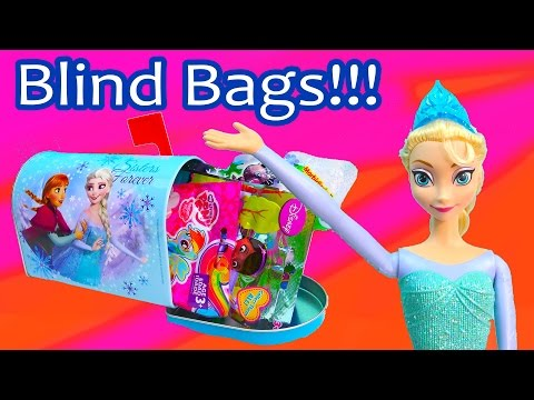Queen Elsa Anna Sisters Forever Disney Frozen Blind Bag Mail Box Tin Surprise Mystery My Little Pony