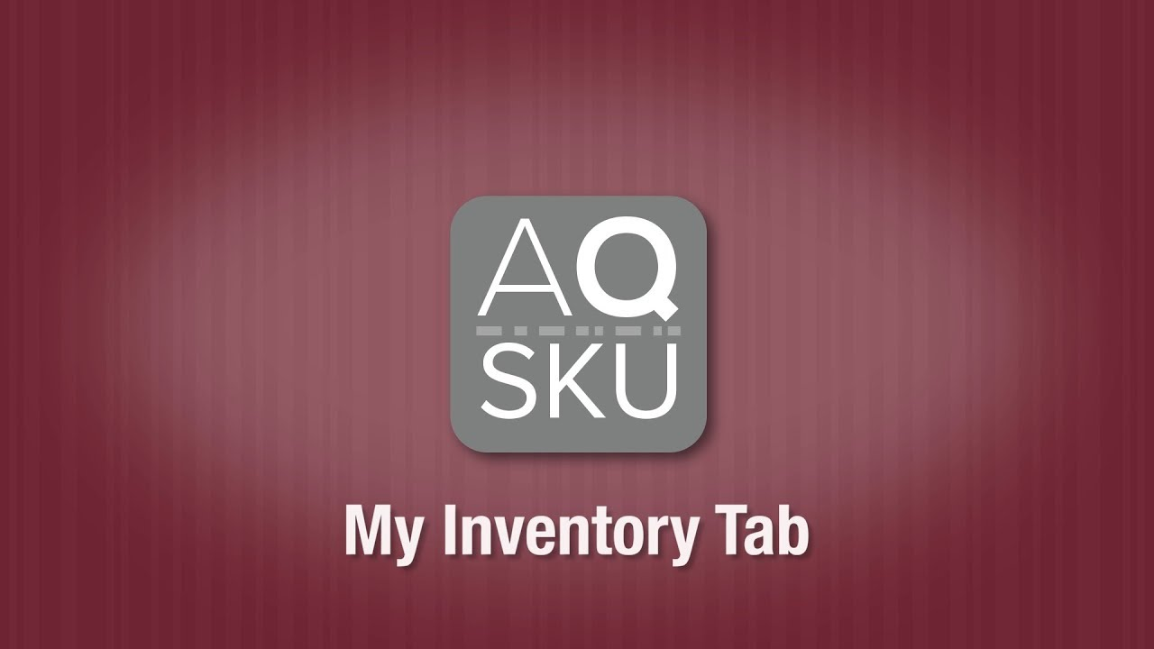 AQ SKU My Inventory adjust