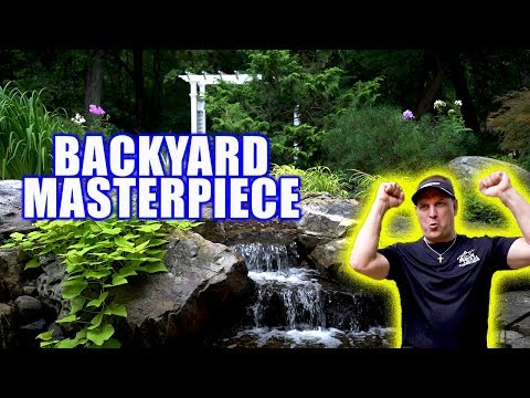 POND And WATERFALL Create BACKYARD MASTERPIECE!