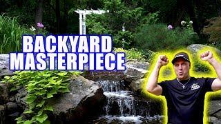 Gambar cover POND and WATERFALL Create BACKYARD MASTERPIECE!
