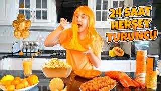 Selam arkadaşlar uzun zamandır sizlerin de bizden istediği 24 saat boyunca tek renk turuncu videosu ile karışınızdayım. Bu video tamamen bendenize melikeye ...