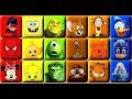 Cartoon Characters Learn Colors Puzzle Blocks Games for Kids