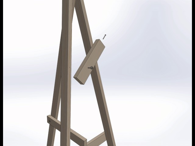 Completely new Easy DIY and Portable Painting Easel OX78