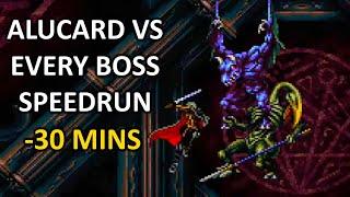 Castlevania SotN Alucard Speedrun VS All Bosses in 30 mins