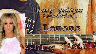 Baixar Ashley Tisdale - Lemons//complete guitar tutorial+full tabs
