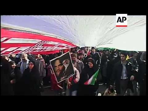 Thousands on the streets in Tehran to mark anniversary of 1979 revolution