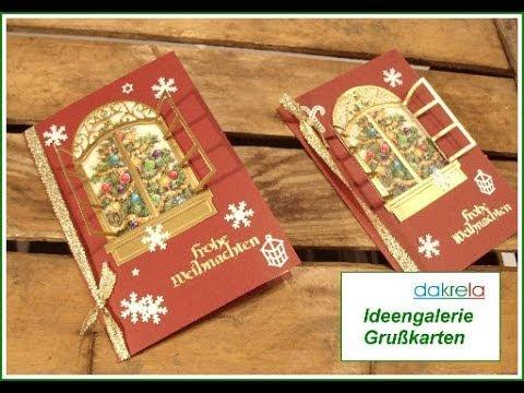 Weihnachtskarte selber basteln christmas card serie 2 - Interaktive weihnachtskarte ...