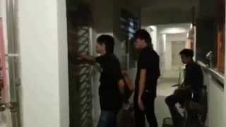 Debt collectors harassing and threatening a debtor at his HDB flat