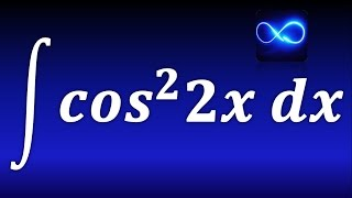 Integral de coseno cuadrado de 2x. TRIGONOMETRICA. EJERCICIO RESUELTO.