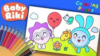 #LooLooKids Nursery Coloring Pages #ForKids #BabyRiki Coloring Book