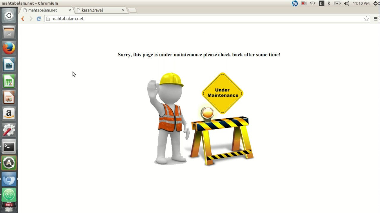 Redirecting Apache traffic to a maintenance page