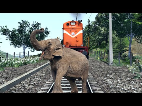 Crazy Elephant STOPS The Train And Escapes Indian Railways In Indian Train Simulator