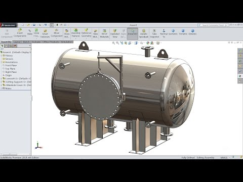 Solidworks tutorial | How to make Pressure Vessel in Solidwo
